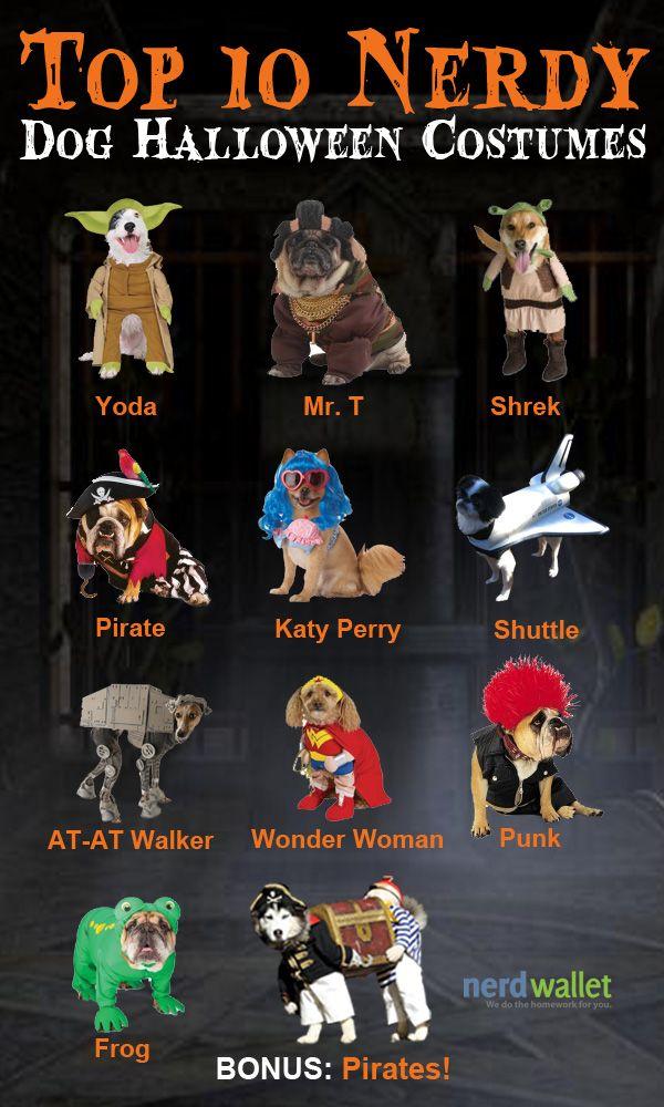 Top 10 Nerdy Halloween Costumes For Dogs @NerdWallet