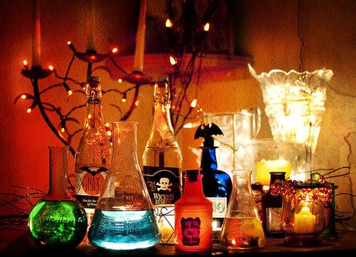 it seems like every halloween diy site has a tutorial on making fake potions and stuff out of pre existing bottlesfluids but who even sees these on - Halloween Light Ideas