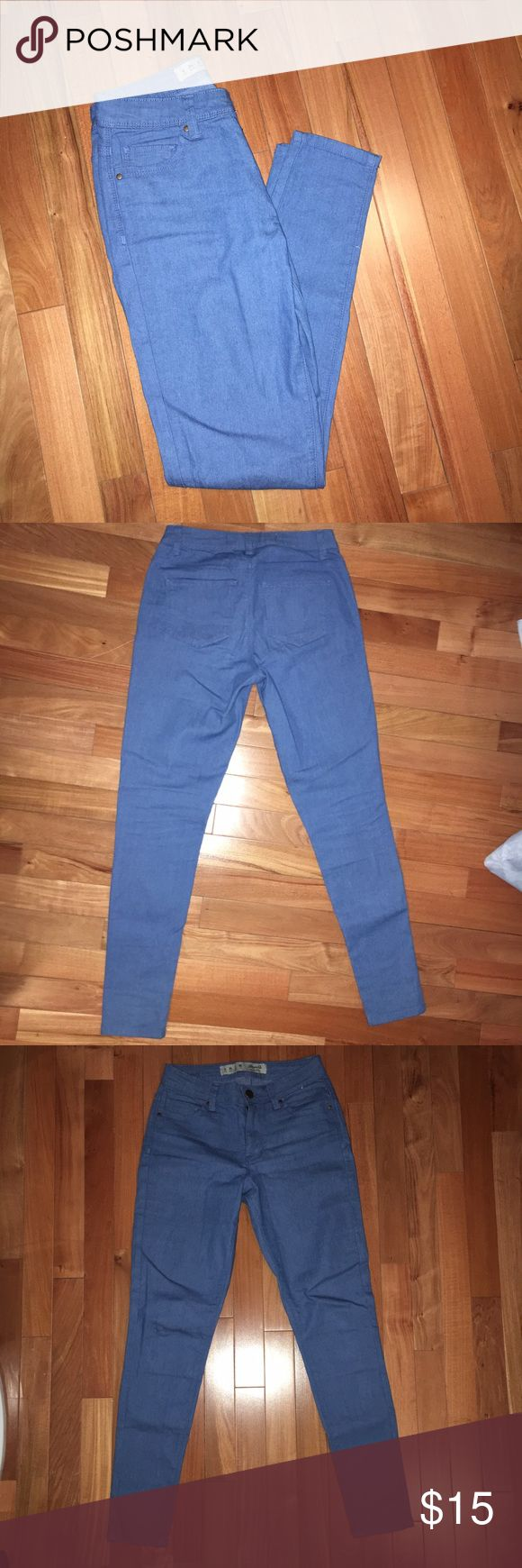 Jeans Medium wash, regular length, mid-rise jeans. Wore them two or three times but were too tight! Denim Co. Jeans Skinny