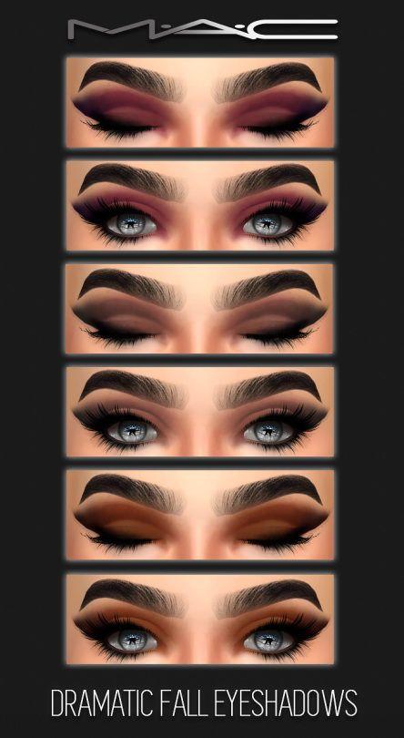 Mac Eye Shadow 0 05oz 1 5g New In Box: MAC Cosimetics: Dramatic Fall Eyes • Sims 4 Downloads