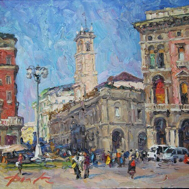 Oil on canvas. 2009. 50/70cm. Milan Duomo.