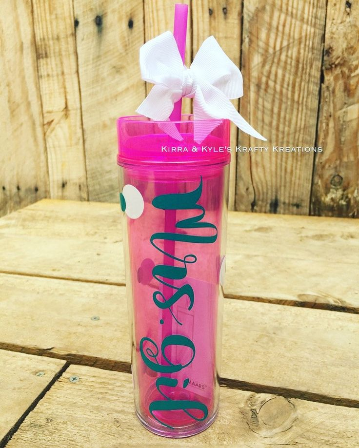 Personalized tumbler, teacher gift, bridesmaid gift, gifts for her, dance team, cheerleading, team gift, custom water bottle, sports gift by KirraKylesKreations on Etsy