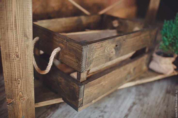 Купить Деревянный ящик в стиле эко - коричневый, ящик встиле эко, Деревянный ящик, эко