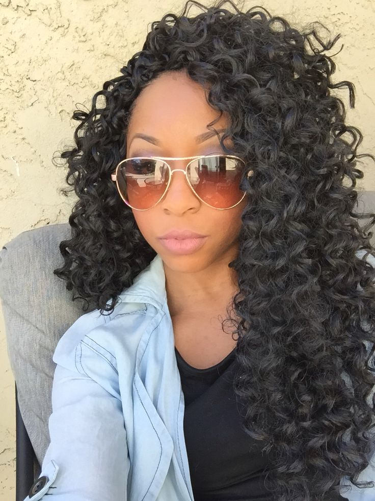 Freetress gogo curl crochet braids Instagram:_fortheloveofdelicacy_