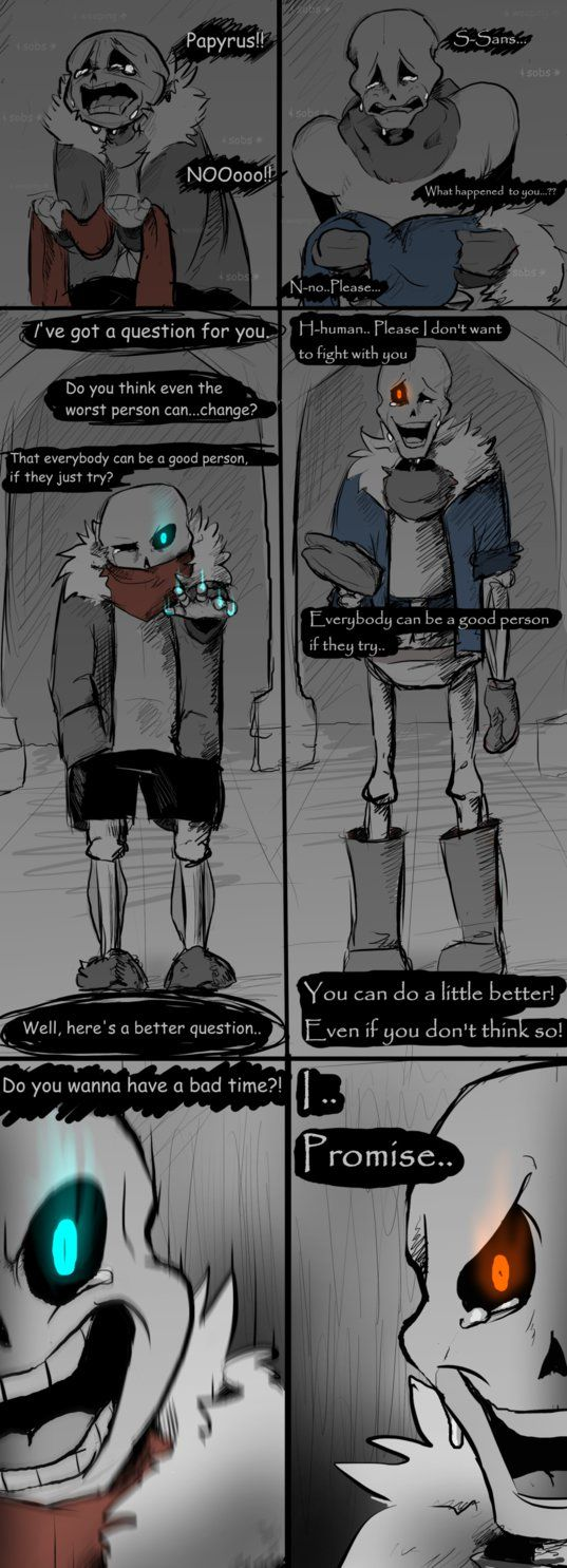 First swear of the comic and it's by Papyrus, of all people This comic will now (hopefully) update weekly I'll decide on a specific day eventually probably Wednesdays because those are the slow day...