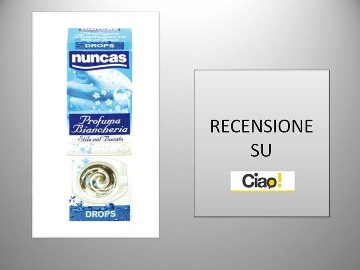Trovate la mia recensione di questo prodotto stupendo per il mio bucato, sul sito di Ciao.it http://www.ciao.it/Nuncas_Profuma_Biancheria__Opinione_1931825