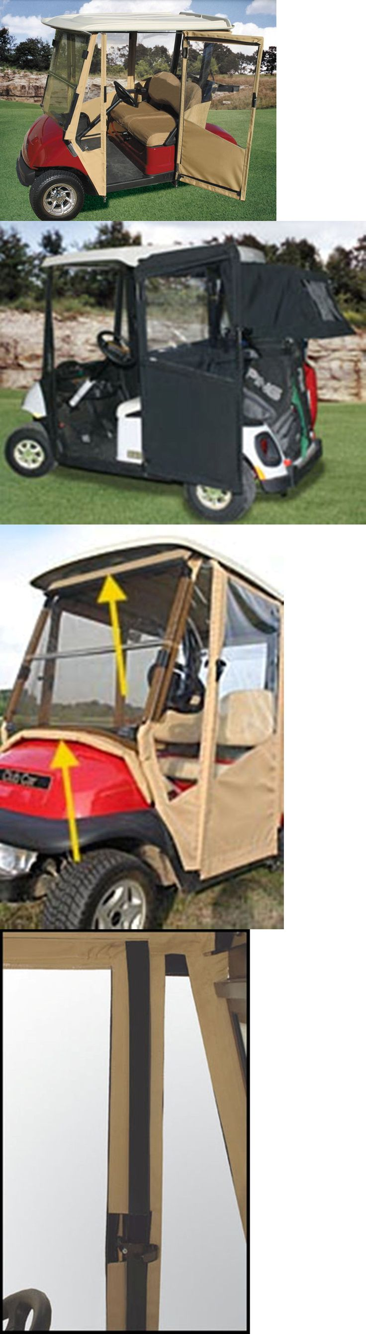 Other Golf Accessories 1514: Doorworks Club Car Precedent Sunbrella Golf Cart Enclosure Hinged Doors In St -> BUY IT NOW ONLY: $639 on eBay!