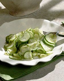 Ginger Cucumber Salad - Martha Stewart Recipes @Heather Loveland- the ...