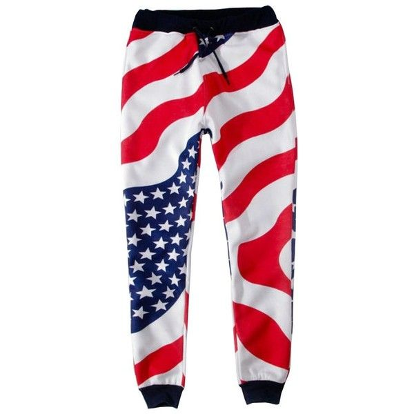 SAYM USA American Flag Emojies Galaxy 3D Sweatpants Joggers ($20) ❤ liked on Polyvore featuring activewear, activewear pants, galaxy sweat pants, american flag sweatpants, sweat pants, jogger sweat pants and galaxy sweatpants