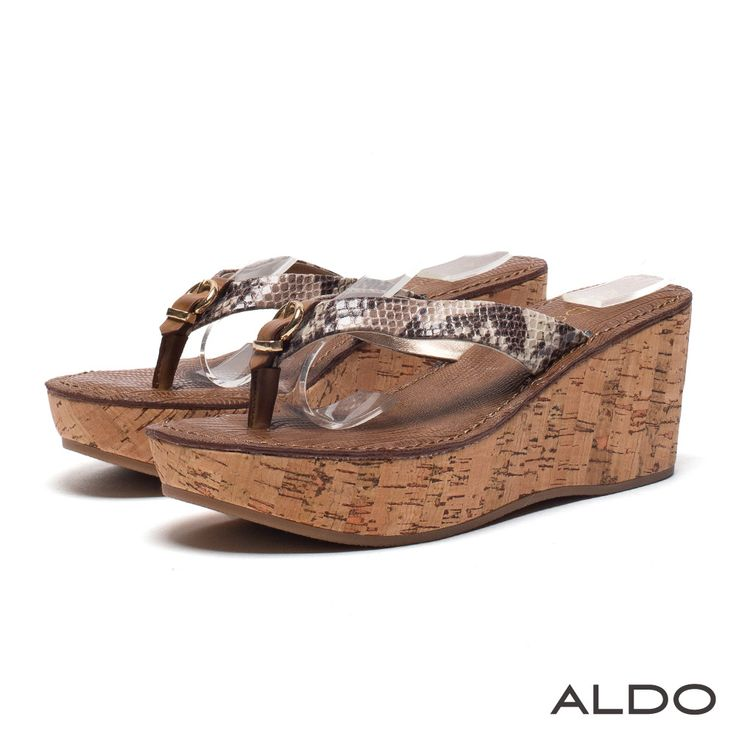 ALDO 異國度假風蛇紋金屬釦環厚底夾腳涼鞋~個性蛇紋 - Yahoo!奇摩購物中心