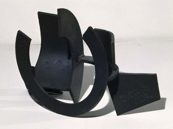 Jorge Oteiza:  Ordination of a defined space.  hyperspace Control  1957 Iron- Forging, welding and patinated 34 x 57 x 22.5 cm