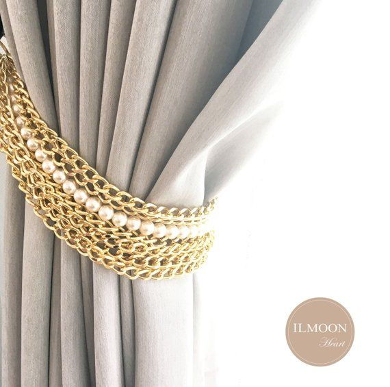 For You Who Love The Luxury Decorative Pieces To Boost Up Your Decor Luxury Glam With Gold Accents I Pink And Gold Curtains Curtain Tie Backs Luxury Curtains