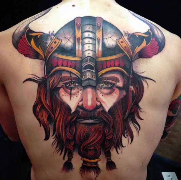 Neo Traditional Viking by Shio Zaragoza - TattooBlend