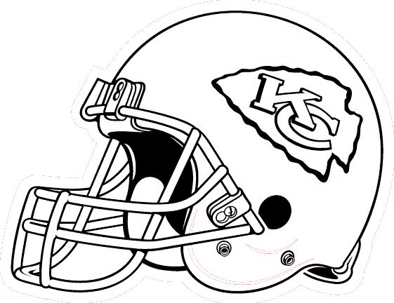 KC Chiefs coloring pages | Coloring pages, Helmet drawing ...