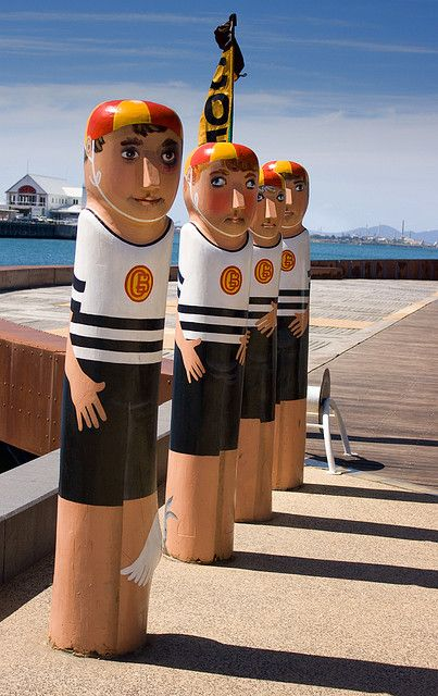 | Geelong Bollards | Over 100 sculptured bollards are installed around the Geelong waterfront. The bollards chronicle characters from the city's past and present ...