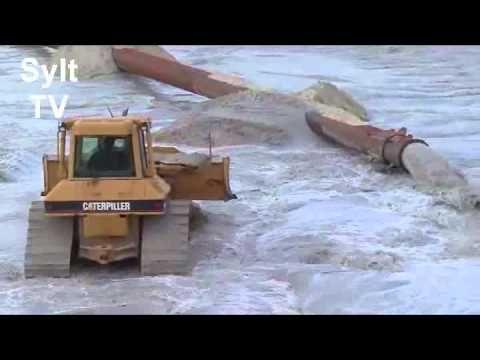 Sandvorspülung in Kampen/Sylt 2012