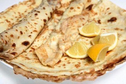 Citrónové palačinky / Lemon pancakes
