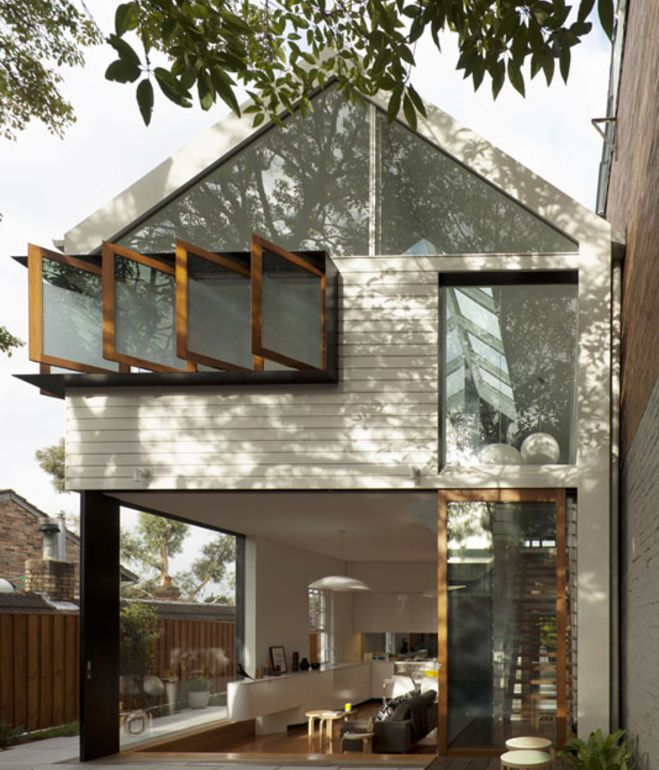 The rear of the Chistopher Polly-designed Elliott Ripper house shows the most impactful design moves: Windows that allow light and air to...