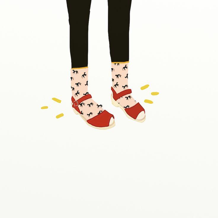 Lotta Clogs illustration by Betsy Petersen