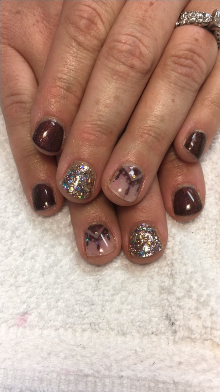 25+ Unique Fall Gel Nails Ideas On Pinterest