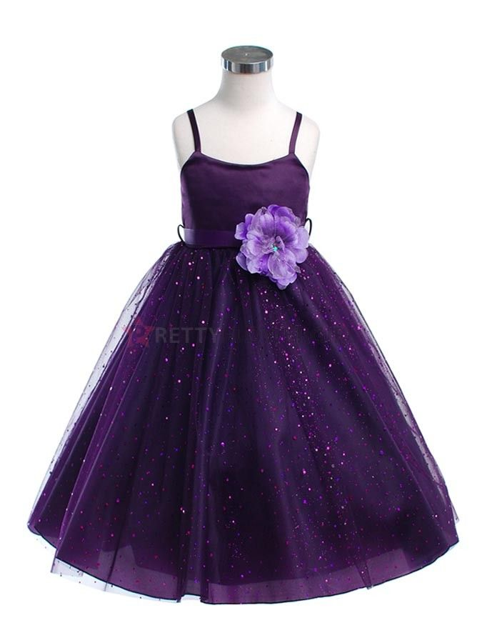 Sparkly junior bridesmaid dress.
