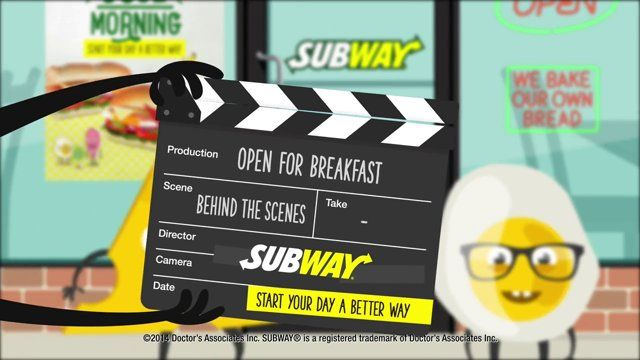 Here's some behind the scenes footage from Subway Restaurant's 'Good Morning' TV ad. Turns out cheese is kind of a jerk - who knew?