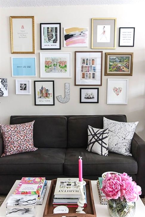 Gallery Wall Small Space Studio Apartment Decorating York Avenue