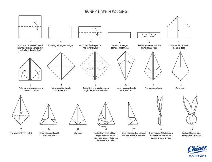 Bunny Napkin Folding