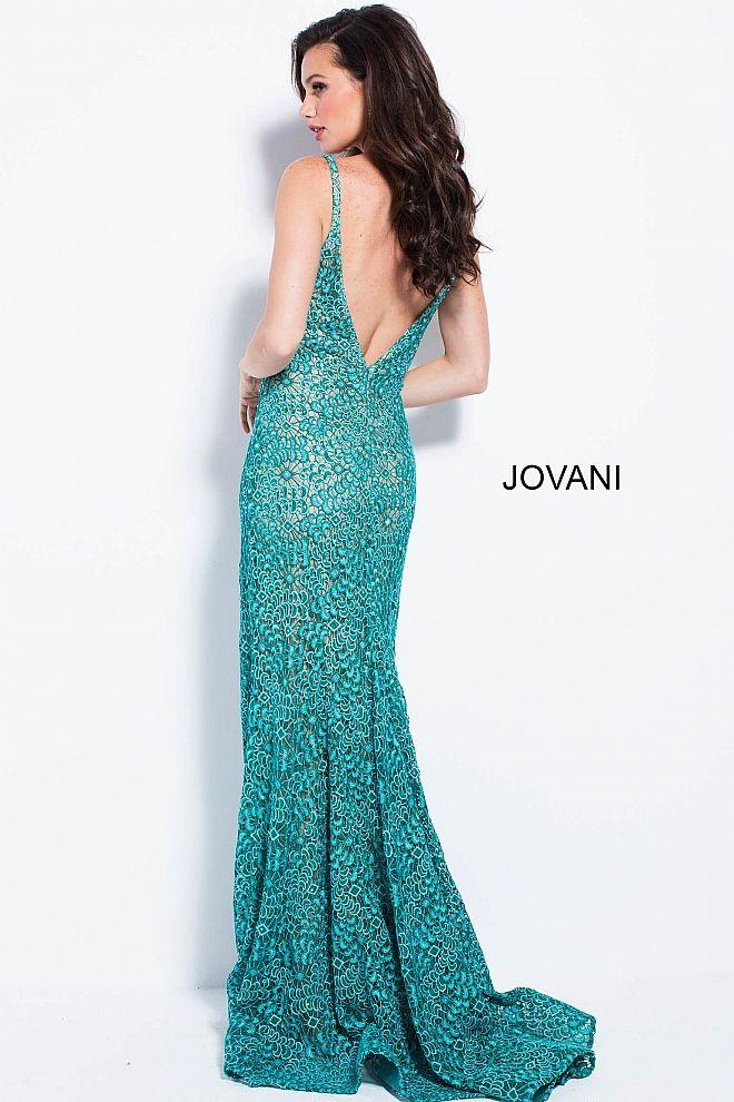 jovani 58433 green lace dress