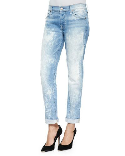 7 FOR ALL MANKIND Josefina Distressed Bleached Slim Boyfriend Jeans $195 (Compare Elsewhere $225) SHIPS FREE BEST PRICES YOU WILL FIND ANYWHERE ON GENUINE LADIES DESIGNER BRANDS! FREE WORLD SHIPPING & LOCAL DELIVERY AVAILABLE AT THE SURF CITY SHOP in Huntington Beach, California Major Credit Cards Accepted