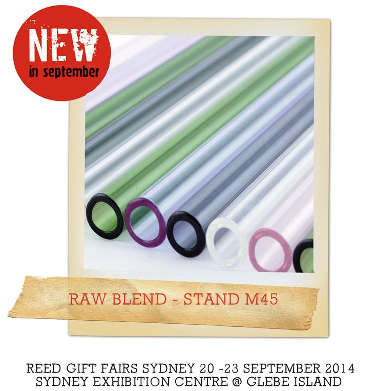 Glass straws - new at Sydney September 2014