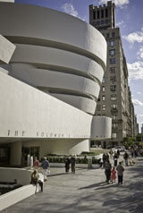 """On Saturdays from 5:45 -7:45 p.m. admission to the Guggenheim is """"pay what you wish"""" by donation."""