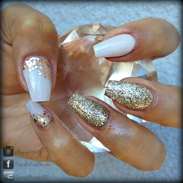 202 best beautiful nails ongle images on pinterest nail nail designs by sarah white coffin nailsgold prinsesfo Choice Image
