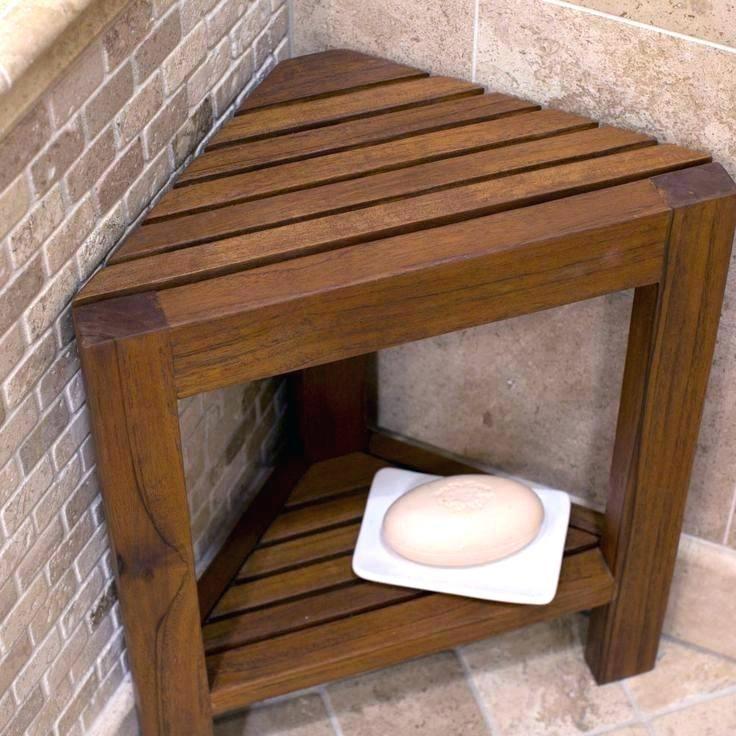 Wood Shower Caddy Wooden Shower Living Corner Teak Shower Bench