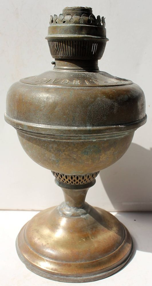 Details About Vintage Kerosene Brass Lamp Germany Made