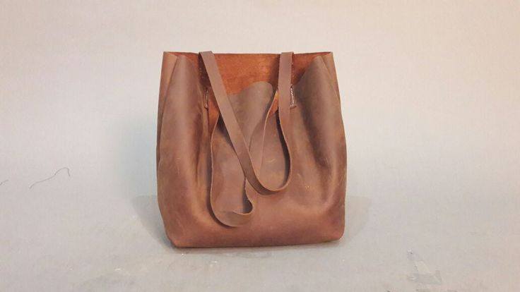 USD 70.00  Crazy horse leather bag, tote bag, leather craft. Dimension : 40cm x 7cm x 28cm #leather #vintageleather #leatherbag #crazyhorse