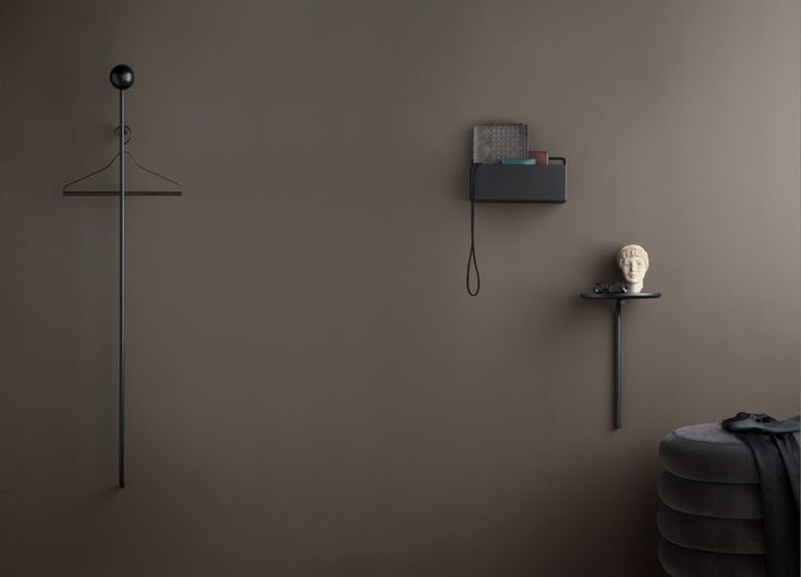 Pujo coat rack and wall table for Ferm Living. Design by Studio Finna. 2018