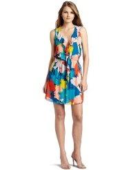 Testament Womens Floral Tank Ruffle Dress