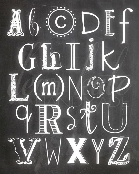 Alphabet Chalkboard Print