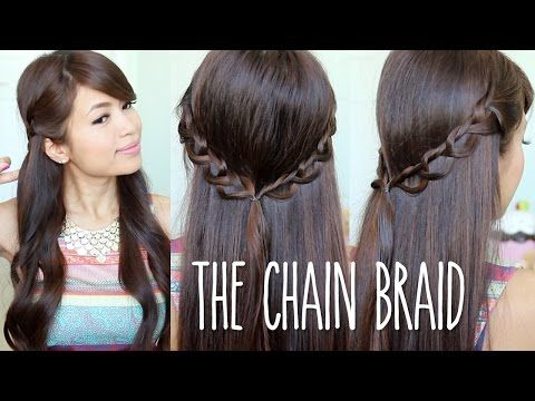 Chain Braid Headband Hairstyle Tutorial + NuMe Curl Jam GIVEAWAY - YouTube