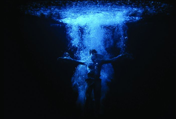 Bill Viola, Ascension, 2000, video/sound installation, photo Kira Perov