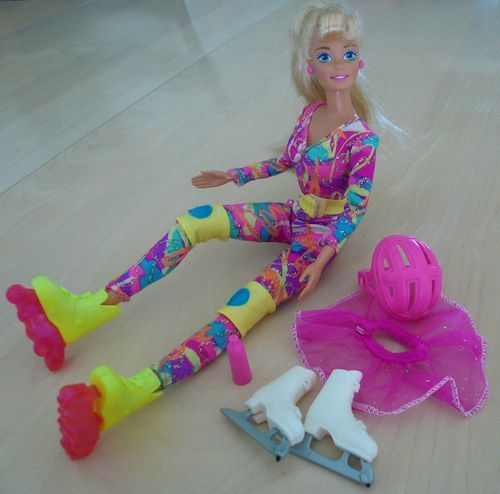 1994 Hot Skatin' Barbie Doll Roller Blades Ice Skates Clothes Accessories | eBay