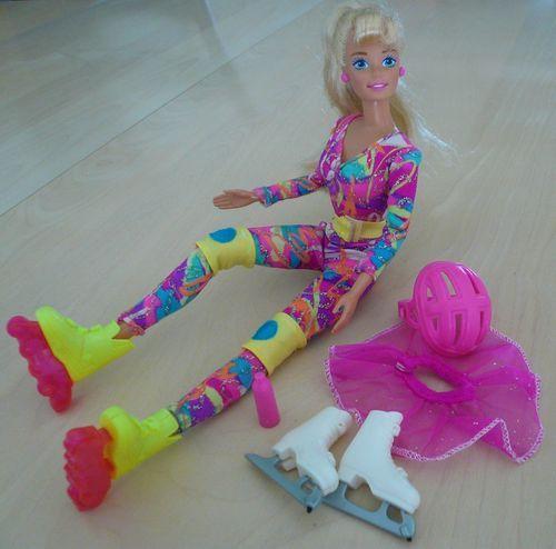 1994 Hot Skatin' Barbie Doll Roller Blades Ice Skates Clothes Accessories | eBay