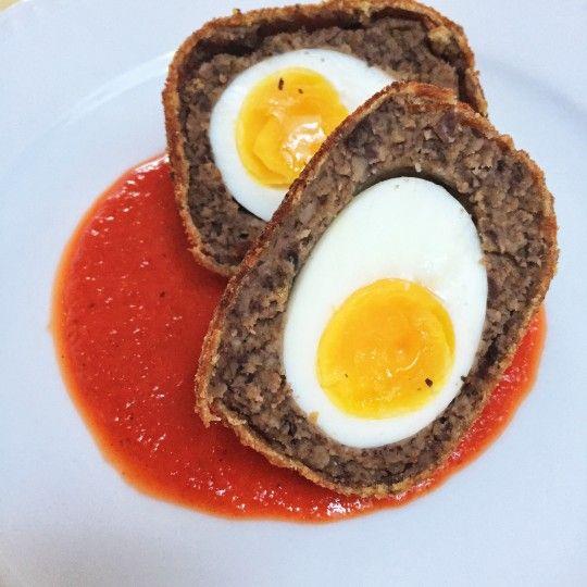 Recette d'oeuf écossais (scotch egg) végétarien