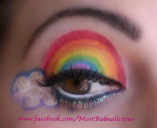 Lisa Frank Makeup Eye    Makeup page: www.facebook.com/mostbabealicious  Jewelry:  www.etsy.com/shop/angelicconcepts
