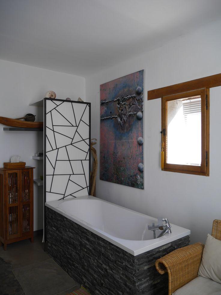 Un produit de décoration unique, un cadre en aluminium et son tissu imprimé tendu, contactez moi ;-)