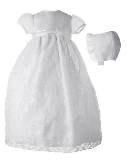 >> Click to Buy << 2016 New Todder WITH BONNET Baby Infant Christening Dress Baptism Gown Girl Boy Lace Applique Sash 0 3 6 9 12 18 24month #Affiliate