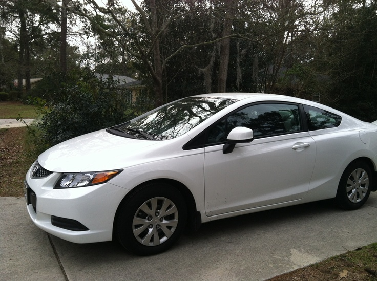 White 2012 honda civic two door autos pinterest for 2012 honda civic white