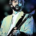 Eric Clapton Print by Paul Sachtleben