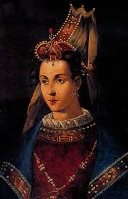 Roxelana - Hurrem ( Joyful or Laughing One) 1504 -1558 who was a captured slave but rose to become the wife and consort of Suleiman the Magnificent